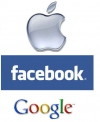 Facebook, Google,Apple